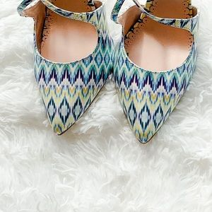 NWOB Madison by Shoe Dazzle Ikat D'Orsay Heels